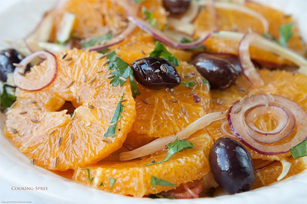 5 Golden Rings: Red Onion Salad w/ 5 Types of Oranges